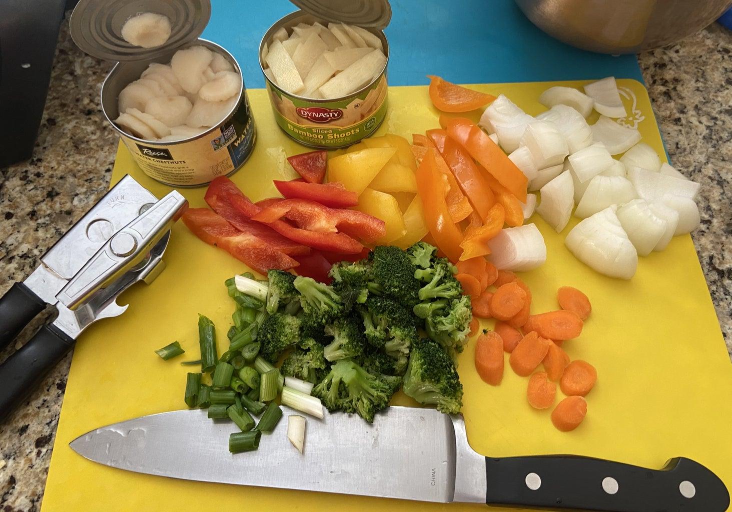 Mushrooms and Vegetable Prep