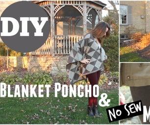 Blanket Poncho & No Sew Mitts