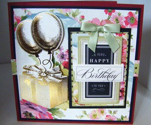 How to Make a Vintage Rose Birthday Balloon Card