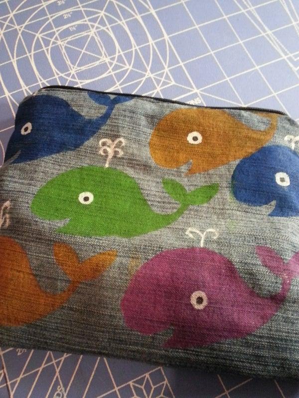 Whale Pencil Bag