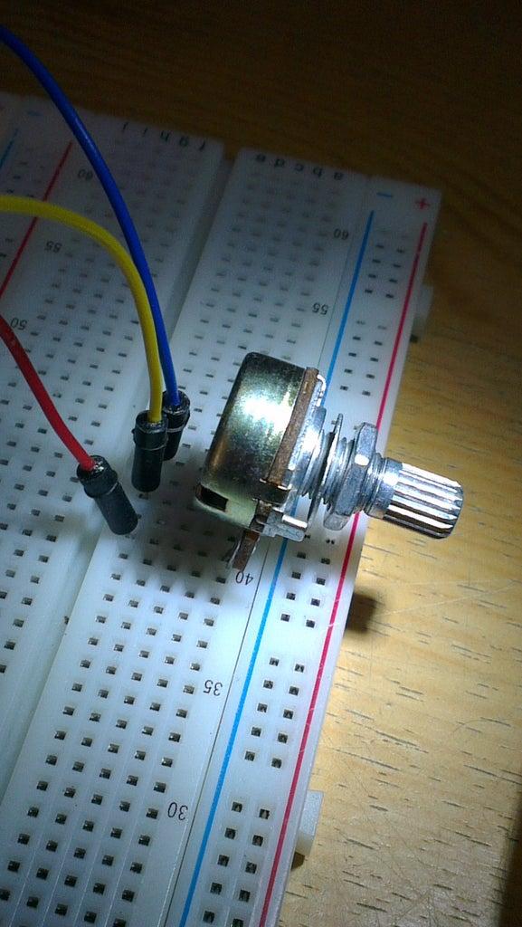 Conacting the Potentiometer