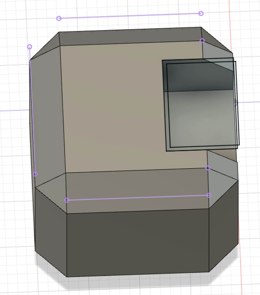 Cutting/Extruding the Hinges