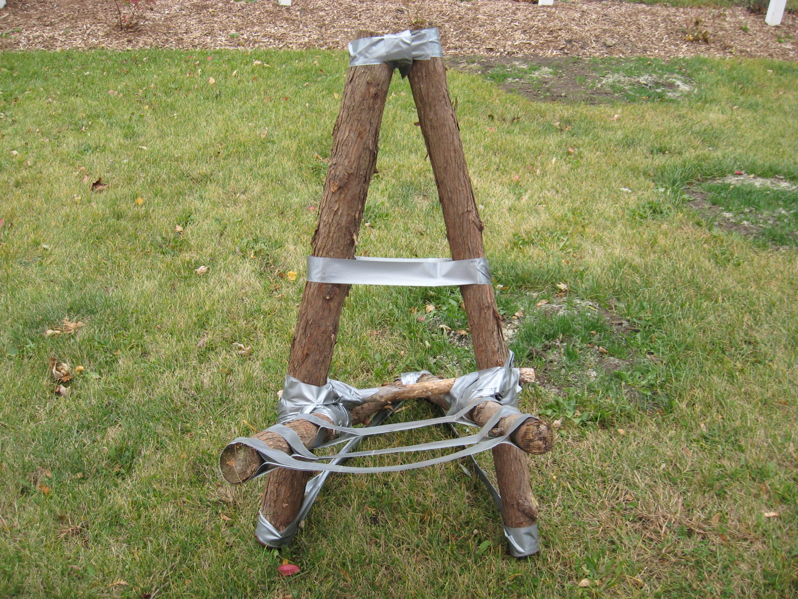 Duct tape camp chair