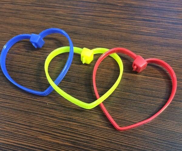 Zip Tie Heart Chain