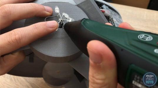 Installing the Ear LEDs: