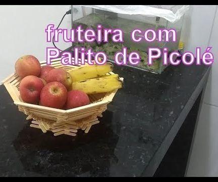 Fruit Bowl With Ice Cream Sticks