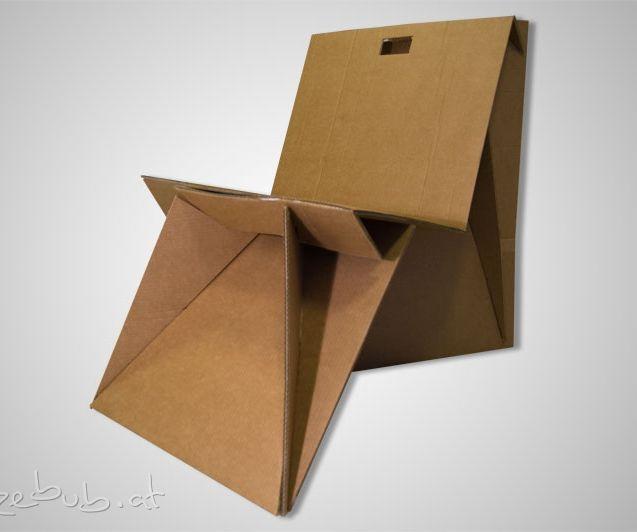 One Piece Cardboard Chair