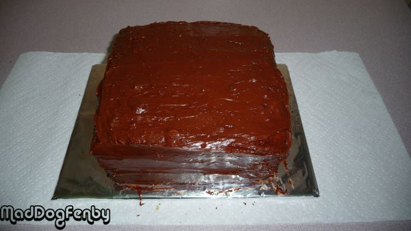 Two Layer Marble Cake With Chocolate Frosting