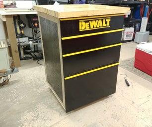 如何在100美元下使用回收木材制作工具柜工作台 - 第1部分:工具柜