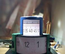 Cylindrical Cyberpunk Clock
