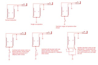 Make Your Guitar S Humbuckers Switchable To Single Coils 5 Steps Instructables