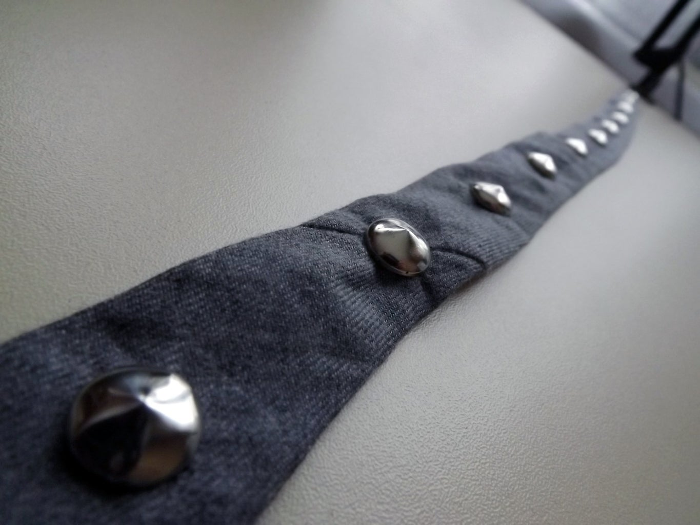 Sewing the Studded Hatband Onto the Hat