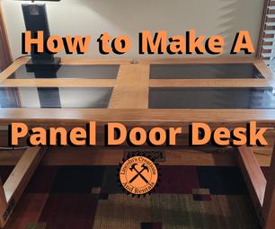 实木六面板门的DIY书桌