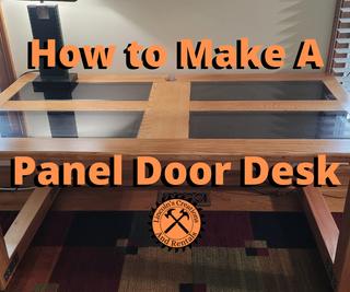 DIY Desk From Solid Wood Six-Panel Door