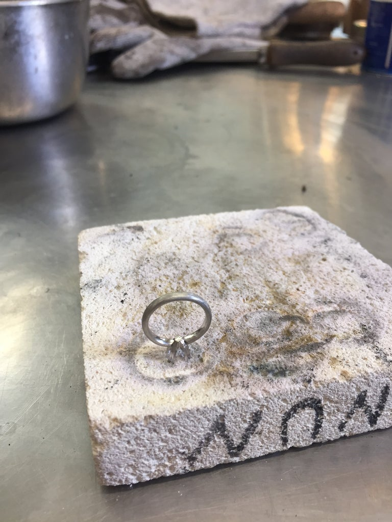 Braze the Setting to the Ring