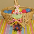 Easter Bunny Candy Jar Air Dry Clay Decoration