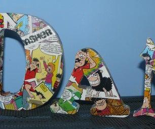 Freestanding Decoupage Letters