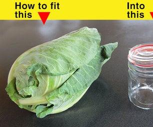 Easy Small Batch Fermented Sauerkraut