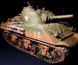 Weathering Sherman Rc Tank
