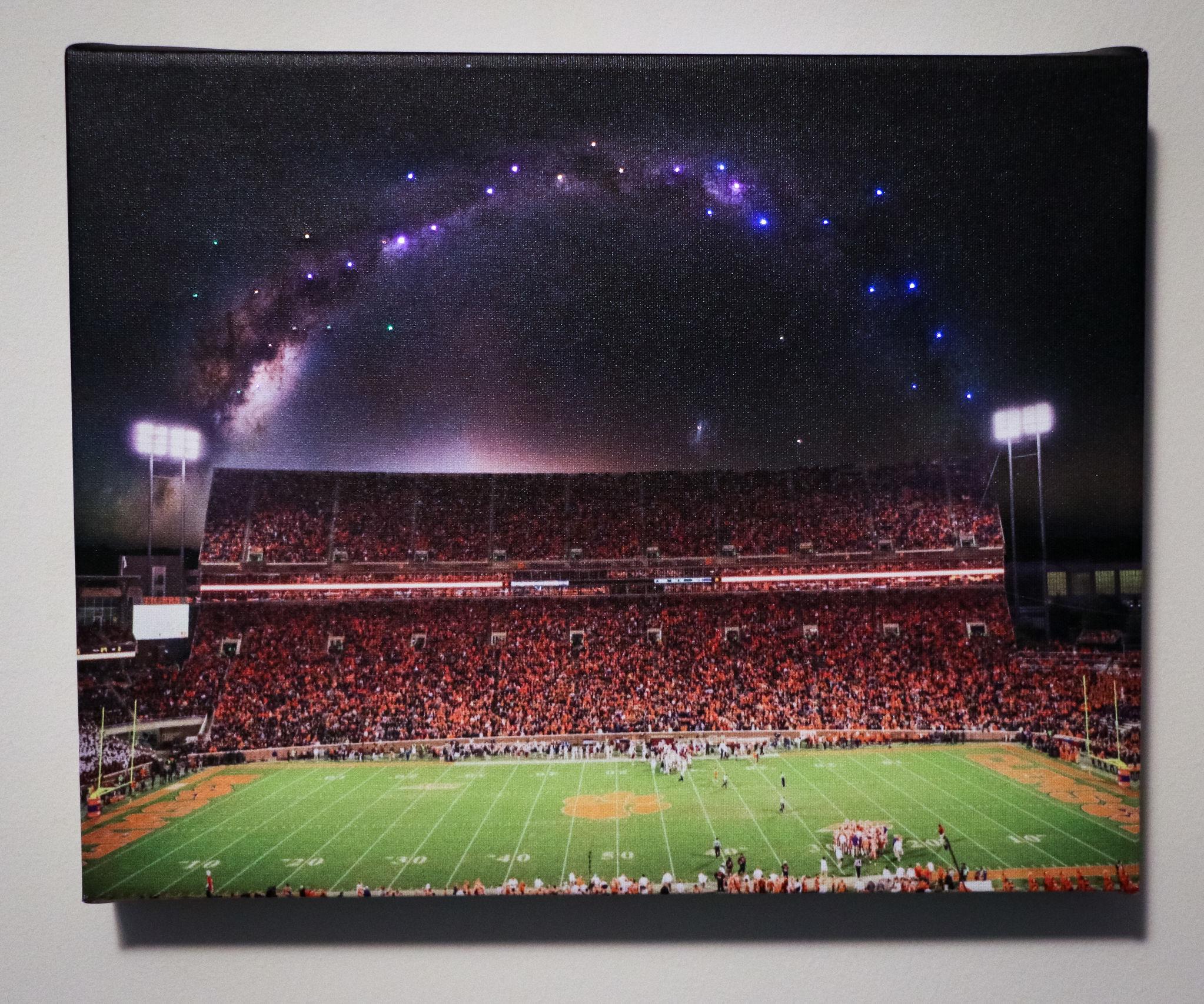 Fiber-Optic Lights in Canvas Print