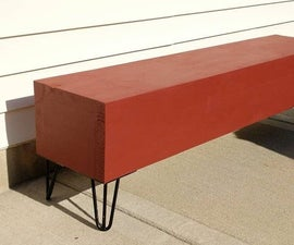Simple Red Bench