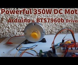 Control Powerful Electric Skateboard E-Bike 350W DC Motor Using Arduino and BTS7960b