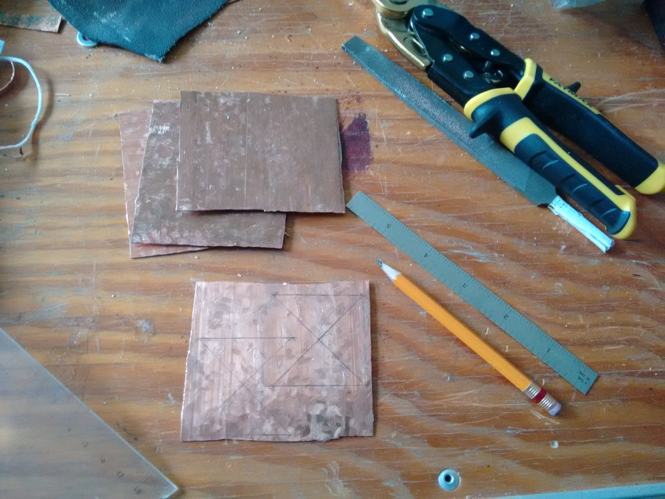 Custom Hardware: Copper Cantilever Links and Box Corners