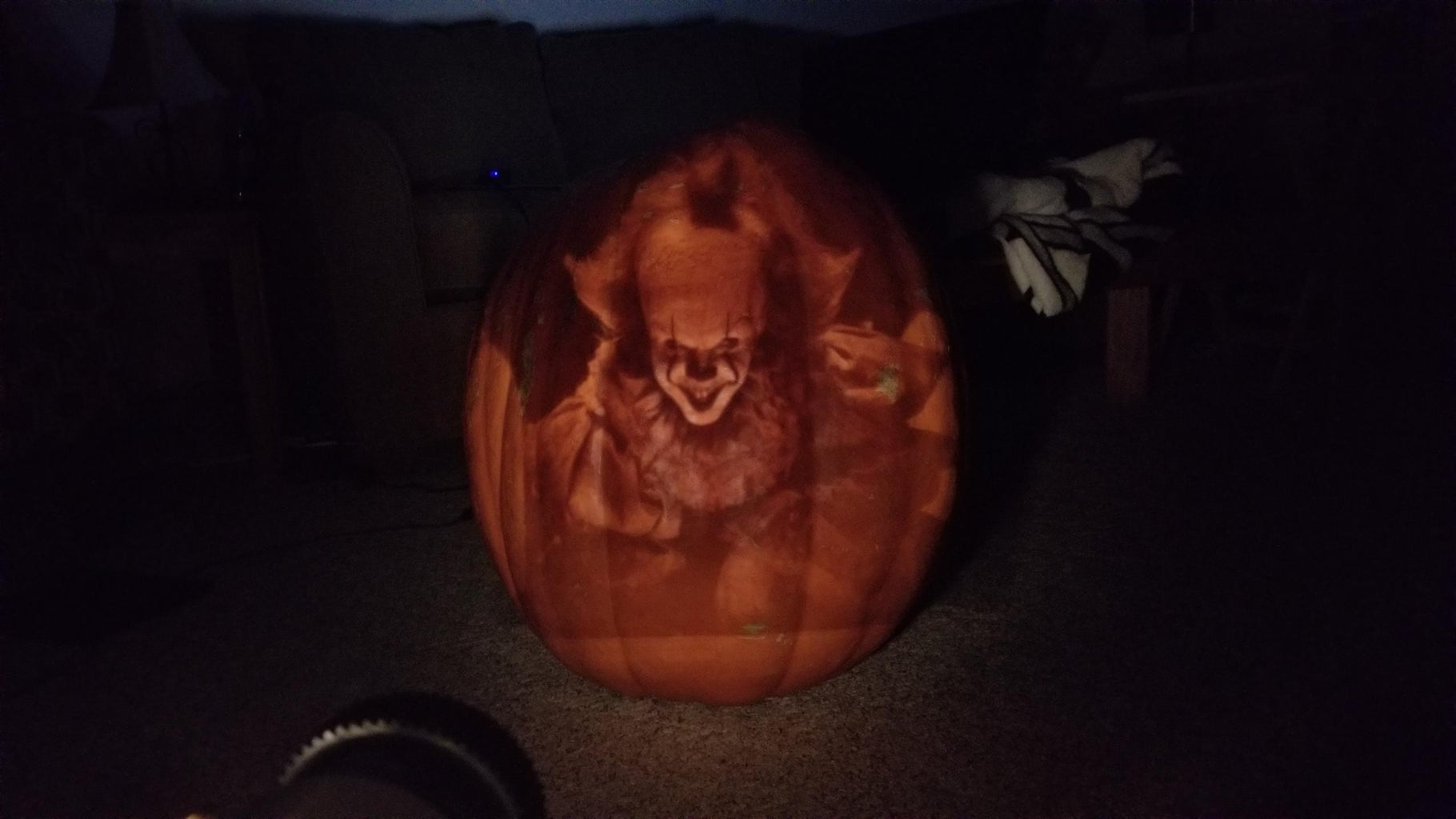 Drawing Your Pattern/image Onto the Pumpkin