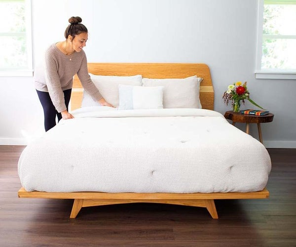 Modern Queen Bed From Hickory