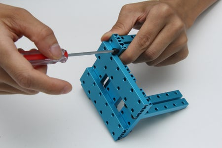 Stepper Motor and Electronic Modules Holder