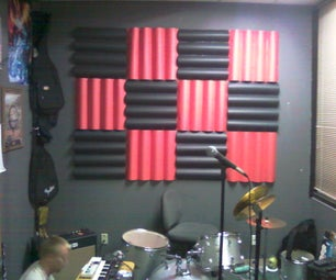 Sound Defusing/dampening Wall With Posterboard