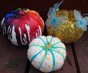 DIY NO-Carve Halloween Pumpkins