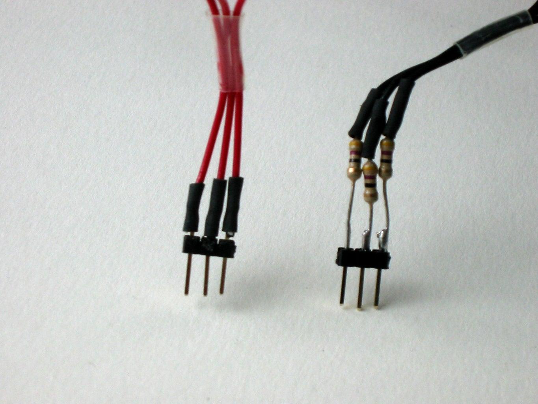 Making the LED Matrix -- Pin Headers and Resistors