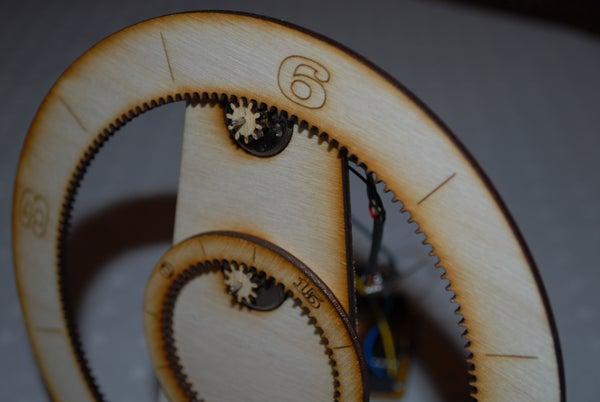 Laser Cut Gear Clock - With ChronoDot!