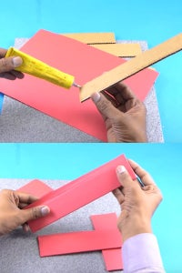 Let's Wrap Cardboard Pieces With Color Paper!