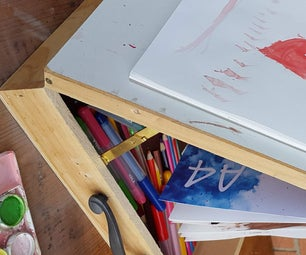 Child's Easel Box From a Wine Box