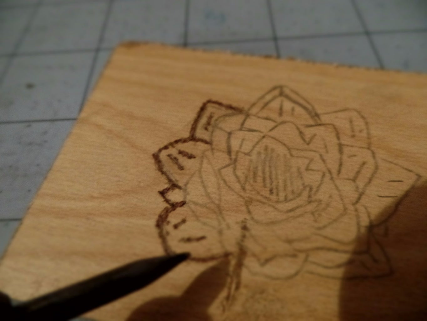 Burn the Design Into the Wood