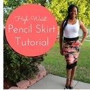 DIY High Waist Pencil Skirt Tutorial