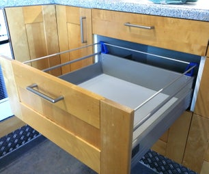 Ikea Kitchen Drawer Extension - With Printed Parts