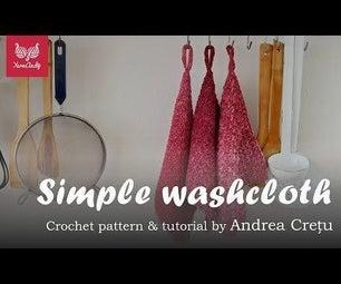 Crochet a Gradient Washcloth With Cotton Yarn