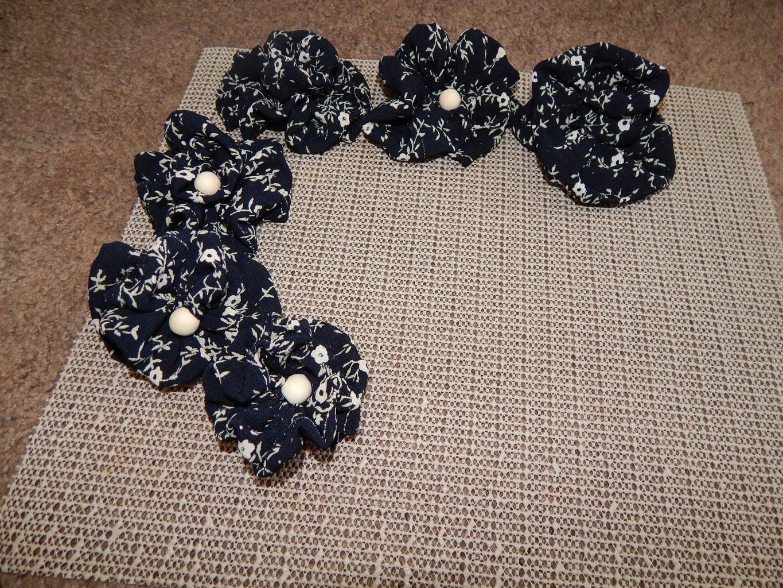 Fabric Flower - Indigo