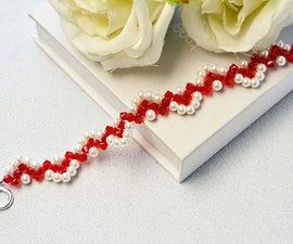 Beebeecraft Tutorials on How to Make Wave Beaded Bracelet