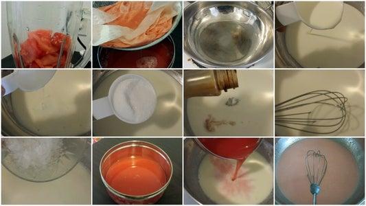Making of Watermelon Panna Cotta