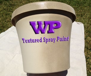 How to Paint a Flower Pot With Textured Spray Paint