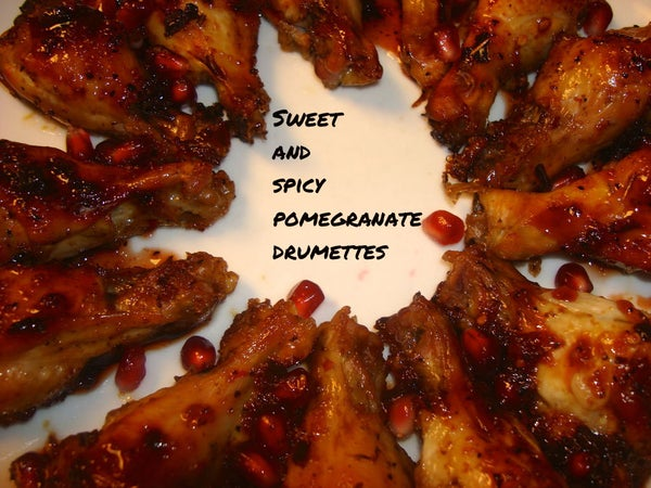 Sweet and Spicy Pomegranate Chicken  Drumettes