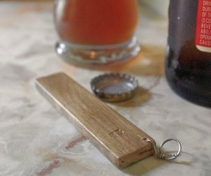 Open a Beer Bottle With a Piece of Wood