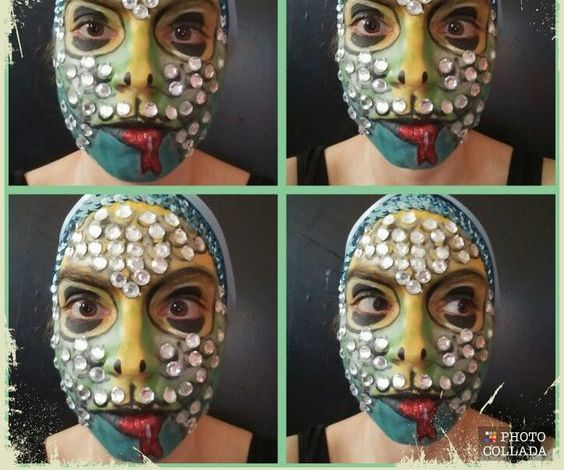 Sparkly Snake Face Paint