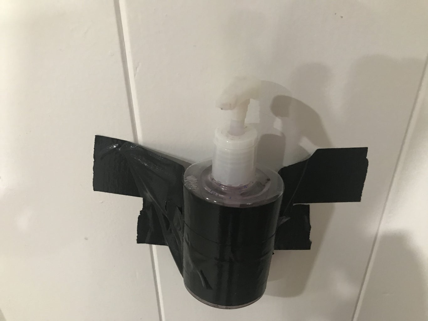 Attach Hand Sanitizer to Wall