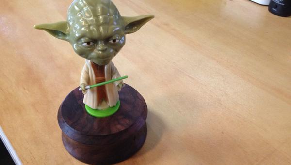Make a Yoda Desk Ornament
