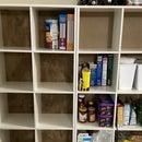 Making Backs for Shelves From Boxes